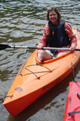 Collier in kayak