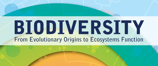 Banner for 'Biodiversity: From Evolutionary Origins to Ecosystem Function'