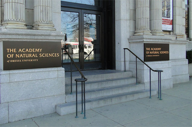 The Parkway entrance to the Academy of Natural Sciences of Drexel University