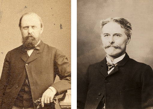 portraits of O. C. Marsh and E. D. Cope