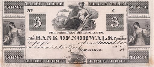 antique bank note