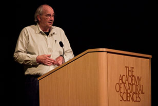 paleontologist Jack Horner gives a talk at the Academy
