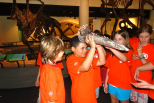 kids with dinosaur horn