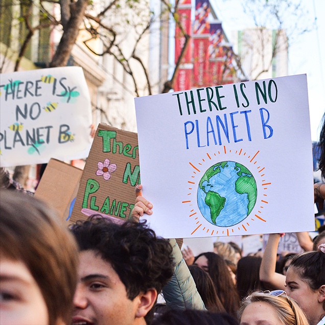 there is no planet b protest sign