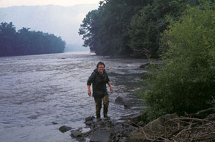 Ruth Patrick in the Holston River in 1965