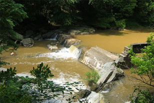 A deteriorated 5 ft dam in York County, Pennsylvania