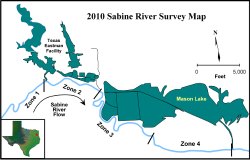 Sabine River Map