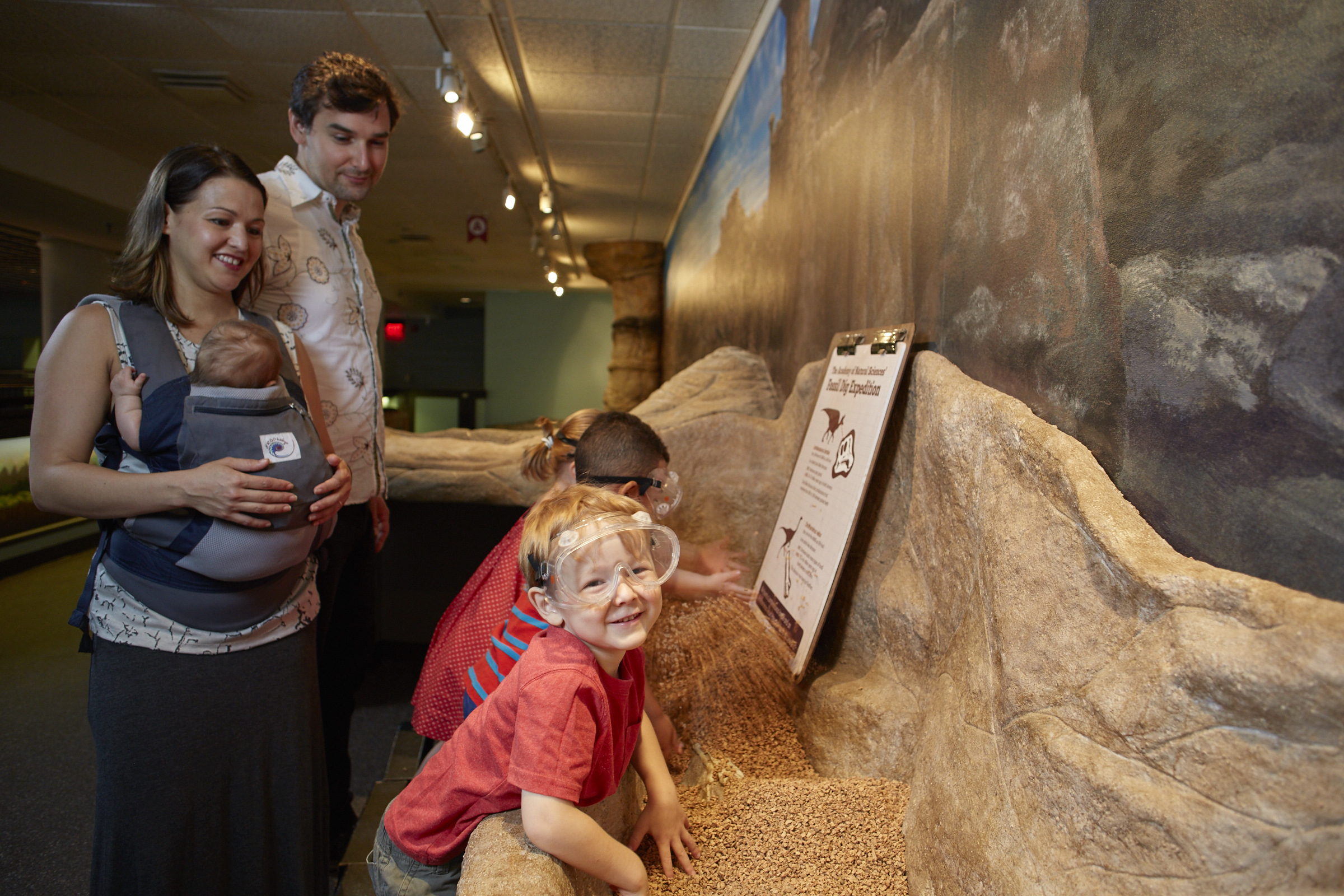 Parents and kids enjoy hands-on exhibits