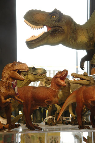 toy dinosaurs in the Academy Shop