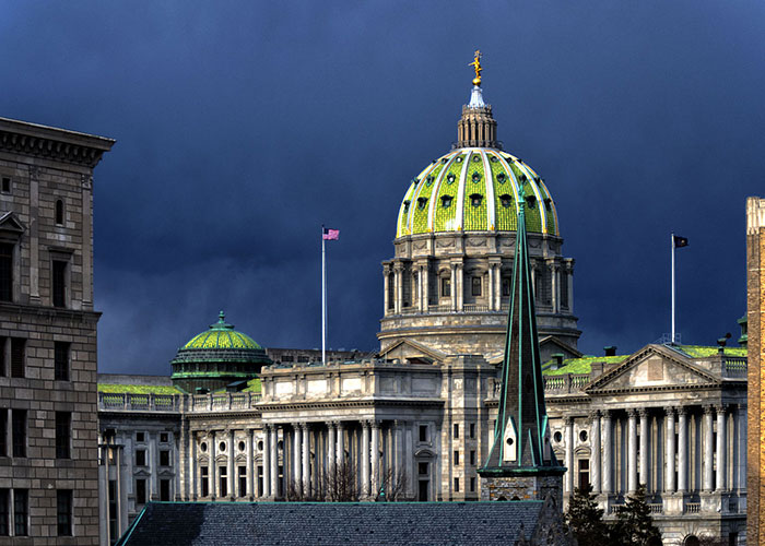 Pennsylvania State Capitol Building in Harrisburg, PA
